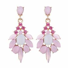 Drop Dangle Women Water Drops Gemstone Resin Jelly Color Rhinestone Earrings