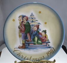 """A Time To Remember"" Christmas 1981 Collector Schmid Plate - Sister Berta Hummel"