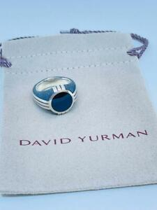 David Yurman Southwest Signet Ring Onyx 925 Mens Sz 10 New $595