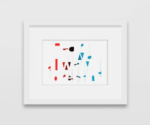 Rhythm, Digital Prints, Silkscreen, Abstract, Handmade, Vintage