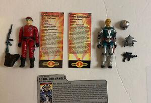 Lot of 2: 1987 COBRA COMMANDER v3 Battle Armor + CRIMSON GUARD Fred customs