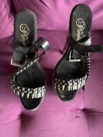 """Spike Heel 10"""" Black Size 7 Stripper Shoes"""