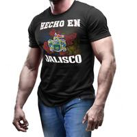 Hecho en Jalisco Mexico coat of arm shirt Mexican Flag emblem T-shirt