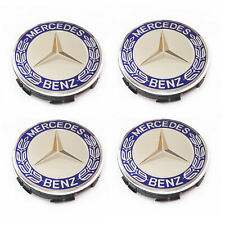 4 Set Alloy Wheel Centre Caps For Mercedes Benz 75mm Badges Hub Emblem A C E G S