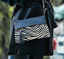 Handtasche Zebra Kuhfell Clutch Echtes Leder kleine Tasche Damen Animal