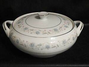 FINE CHINA OF JAPAN English Garden Covered Casserole Dish with Lid #1221