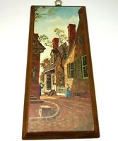 Vtg 1960's Drummond 'Williamsburg' Lithograph Colonial Cottage-core Street Scene
