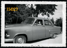 Vintage Photograph Ford Mainline, woman learning to drive, Toronto 1950's Canada