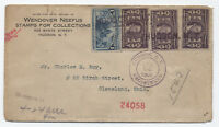1906 3ct Lousiana Purchase x3 on Registered cover Hudson NY [y1989]