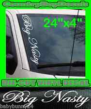 Big Nasty VERTICAL Windshield Vinyl Decal Sticker Truck Car Boost Turbo 4X4