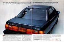 1984 Audi 5000S German Car Luxury Performance Vintage Print Ad 1025