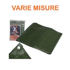 Telo telone copertura occhiellato verde antistrappo impermeabile antigelo lavabi