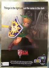 Legend of Zelda A Link to the Past Poster Ad Print Game Boy Advance Nintendo