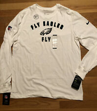 Nike Philadelphia Eagles Fly Eagles Fly Long Sleeve Jersey Mens Size Large Nwt