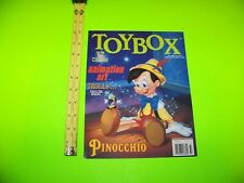 "Toybox ""Collector Magazine"" Trolls Animation Art Pinocchio & More!  Vintage 1993"