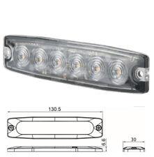 SL-10451 Ultra Slim Led Amber Warning/Strobe/Directional Flasher 12/24v