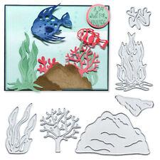 Aqua-plant Cutting Dies Craft DIY Scrapbooking Metal Embossing Card Making Decor