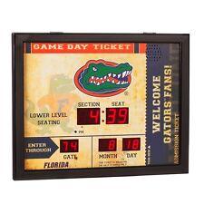 Florida Gators 'UF' Bluetooth Scoreboard Wall Clock Free Shipping