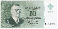 Finland 10 Markkaa 1963 Litt. A (B250)