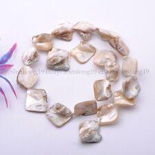"Wholesale 15-25MM White Shell MOP Freeform Shape Gemstone Loose Beads Strand 15"""