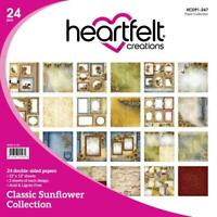 Heartfelt Creations Classic Sunflower Paper Collection Pad Flower French Kitchen