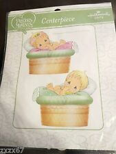 NEW PRECIOUS MOMENTS CENTERPIECE BABY   PARTY SUPPLIES