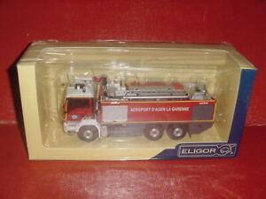 MAN TGS 33.540 SHERPA AEROPORT SIDES pompiers D'AGEN 1/43 ELIGOR camion