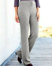 Cotton Traders Knitted Rib Trousers Grey/Marl Uk 16 Brand New