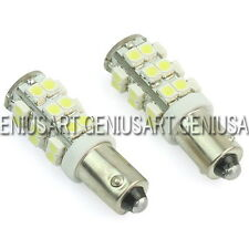 2 Piezas 3528 SMD 25 LED Lámpara Bombilla Bulb BA9S H6W Luz Blanca para Coche