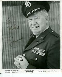 Chill Wills Autograph Character Actor The Alamo Night Gallery Signed Photo