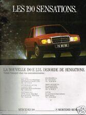Publicité advertising 1987 Mercedes 190 E 2,3 L