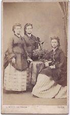Famille Toussaint Rouen FranceCdv par L. Milice Vintage albumine ca 1860