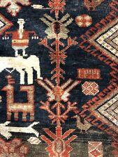 Sensational Shiraz - 1900s Antique Khamseh Rug - Persian Carpet - 4.7 x 7.5 ft.