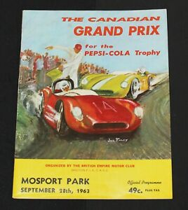 Rare 1963 Mosport Canadian Grand Prix Race Program - Pedro Rodriguez Ferrari Win