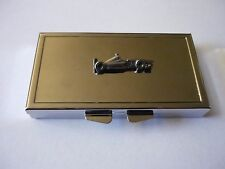 Racing Car w25 English Pewter On Mirrored 7 Day Pill box Compact