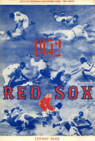 1952 Boston Red Sox Unsigned Official Program and Score Card