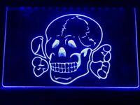 Totenkopf Skull Led Neon Light Up Sign Bar Pub Man Home Cave Sport Advert Decor