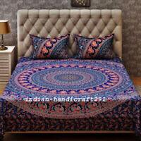 100%Cotton Indian Quilt Duvet Doona Cover Set Single/Queen/King Size Bedding Set