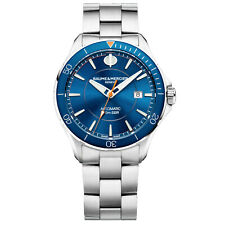 Baume & Mercier 42MM Automatic Clifton Blue Dial Steel Mens Watch M0A10378 New