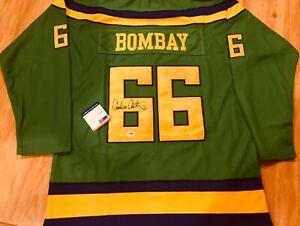 RARE BOMBAY Signed MIGHTY DUCKS 1992 MOVIE HOCKEY JERSEY EMILIO ESTEVEZ PSA COA