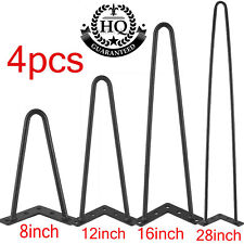 4 Hairpin Table Legs Metal Coffee Hair Pin Leg Stool Bench Furniture Industrial