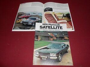 1974 PLYMOUTH SATELLITE, ROAD RUNNER, SEBRING, Etc. BROCHURE / 74 SALES CATALOG