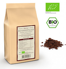(€22,98/kg) 500g BIO Kakaopulver roh, stark entölt zuckerfrei, 100% Kakao Pulver
