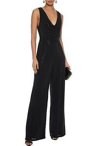 Alice + Olivia Salem Evening Cocktail Women Crystal Embellished Jumpsuit Black 0