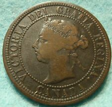 1890 CANADA LARGE CENT Victoria COIN No-Res CANADIAN