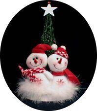 Winter wonderland Funny Snowman Christmas tree Wedding Cake Topper snow Bride