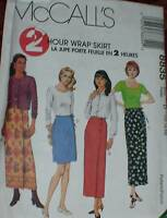 8835 Vintage McCalls SEWING Pattern Misses 2HR Wrap Skirt Summer Spring UNCUT