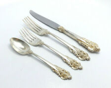 Wallace Grande Baroque Sterling Silver 4 Piece Place Setting