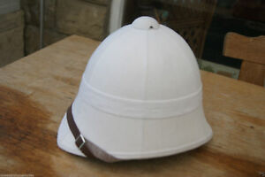 MILITARY STYLE COLONIAL PATTERN ZULU WAR WHITE HOME SERVICE PITH HAT HELMET