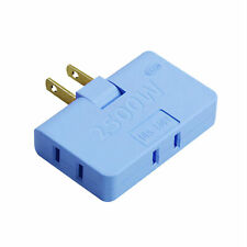 Socket Converter Outlet Adapter Plastic 1 In 3 180 Degrees Rotation Practical